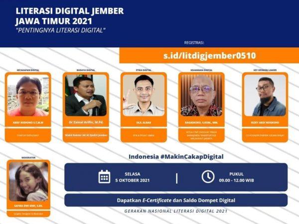 WR 1 IAI Al-Qodiri Menjadi Narasumber Literasi Digital Kemkominfo di Kabupaten Jember